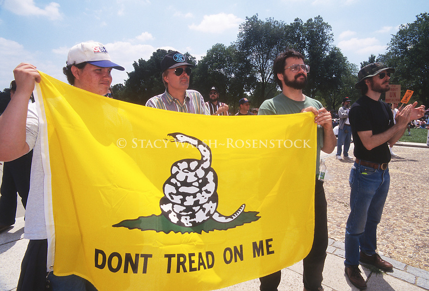 The Committee for 1776, a right wing pro gun organization, rallies on the Mall at the Lincoln Memorial in Washington DC
