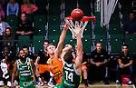 S&ouml;dert&auml;lje 2014-10-01 Basket Basketligan S&ouml;dert&auml;lje Kings - Norrk&ouml;ping Dolphins :  <br /> Norrk&ouml;ping Dolphins Gustav Sundstr&ouml;m i kamp om bollen med S&ouml;dert&auml;lje Kings Aaron Andersson vid korgen <br /> (Foto: Kenta J&ouml;nsson) Nyckelord:  S&ouml;dert&auml;lje Kings SBBK T&auml;ljehallen Norrk&ouml;ping Dolphins