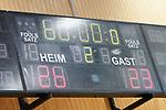 06.10.2019, Klingenhalle, Solingen,  GER, 1. HBL. Herren, Bergischer HC vs. TSV GWD Minden, <br /> <br /> im Bild / picture shows: <br /> Endstand 26:23<br /> <br /> <br /> Foto © nordphoto / Meuter