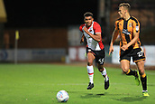 3rd October 2017, The Abbey Stadium, Cambridge, England; Football League Trophy Group stage, Cambridge United versus Southampton U21; Marcus Barnes of Southampton sprints for the ball against Kyle Howkins of Cambridge United