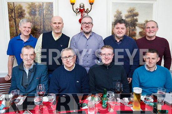 Members of the Tralee Tennis Club enjoying the Christmas party on Friday night last. Front l-r, Ken Hayes, George Philips, Michael Leonard, Moss O'Connor, Brian Waldron, Markum Willis, Alan O'Sullivan, John Bishop and Timmy Hennessy.
