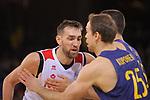 League ACB-ENDESA 2017/2018 - Game: 20.<br /> FC Barcelona Lassa vs Retabet Bilbao Basket: 90-58.<br /> Axel Hervelle vs Petteri Koponen.