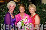 FLOWERS: Louise Griffin (Lady Vice Capt. BB Golf Club) presents flowers to Marian Flannery Lady Captain Ballybunion Golf Club on Lady Captains Day on Saturday. On the left is Carol Anne Cooligan Comp Sec..