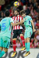 Athletic de Bilbao's Raul Garcia (l) and FC Barcelona's Sergi Roberto during La Liga match. October 28,2017. (ALTERPHOTOS/Acero) /NortePhoto.com