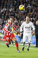 Cristiano Ronaldo and Juanfran Torres during La Liga Match. December 02, 2012. (ALTERPHOTOS/Caro Marin)