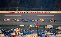 Oct. 31, 2009; Talladega, AL, USA; NASCAR Camping World Truck Series driver Todd Bodine (30) leads the field during the Mountain Dew 250 at the Talladega Superspeedway. Mandatory Credit: Mark J. Rebilas-