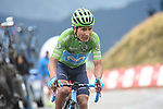 Green Jersey Nairo Quintana (COL) Movistar Team finishes in 2nd place and moves into the race lead at the end of Stage 9 of La Vuelta 2019 running 99.4km from Andorra la Vella to Cortals d'Encamp, Spain. 1st September 2019.<br /> Picture: Colin Flockton | Cyclefile<br /> <br /> All photos usage must carry mandatory copyright credit (© Cyclefile | Colin Flockton)