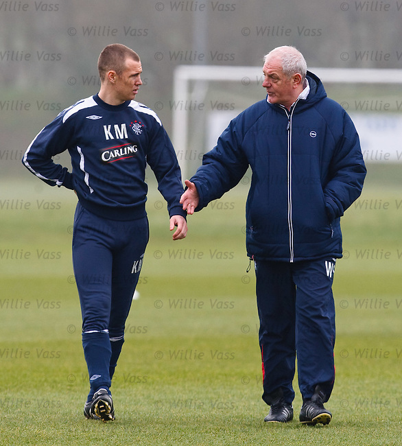 Kenny Miller and Walter Smith have a discussion