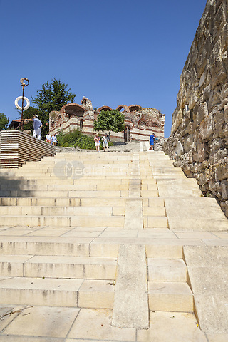 Tourists visiting Saint John Aliturgetos Church, Nessebar, Bulgaria  June 2015.<br /> CAP/MEL<br /> &copy;MEL/Capital Pictures /MediaPunch ***NORTH AND SOUTH AMERICA ONLY***