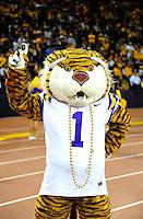 Sept. 5, 2009; Seattle, WA, USA; LSU Tigers mascot against the Washington Huskies at Husky Stadium. LSU defeated Washington 31-23. Mandatory Credit: Mark J. Rebilas-