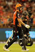8th January 2018, The WACA, Perth, Australia; Australian Big Bash Cricket, Perth Scorchers versus Melbourne Renegades; David Willey of the Perth Scorchers walks of in Scorchers colours for the last time before he leaves to join the English one day side