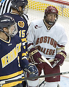 Rob LaLonde, Hank Carisio, Nathan Gerbe - Boston College defeated Merrimack College 3-0 with Tim Filangieri's first two collegiate goals on November 26, 2005 at Kelley Rink/Conte Forum in Chestnut Hill, MA.