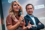 Susana Guasch and Valdano during the presentation of the strategic alliance between Movistar and Laliga<br /> October 4, 2019. <br /> (ALTERPHOTOS/David Jar)