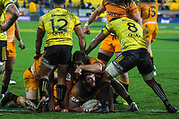 Jaguares' Julian Montoya scores during the Super Rugby match between the Hurricanes and Jaguares at Westpac Stadium in Wellington, New Zealand on Friday, 17 May 2019. Photo: Dave Lintott / lintottphoto.co.nz