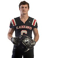 NWA Democrat-Gazette/ANDY SHUPE<br /> Drew Winn of Pea Ridge is the Northwest Arkansas Democrat-Gazette Small School Offensive Player of the Year. Wednesday, Dec. 13, 2017.