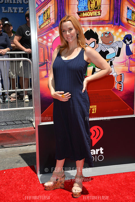 Annie Wersching at the premiere for &quot;Teen Titans Go! to the Movies&quot; at the TCL Chinese Theatre, Los Angeles, USA 22 July 2018<br /> Picture: Paul Smith/Featureflash/SilverHub 0208 004 5359 sales@silverhubmedia.com