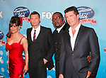 Paula Abdul, Ryan Seacrest, Randy Jackson and Simon Cowell at the American Idol - Idol Gives Back show at the Kodak Theatre, April 6th 2008..Photo by Chris Walter/Photofeatures