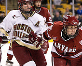 Joe Rooney (Boston College - Canton, MA), Alex Meintel (Harvard University - Yarmouth, ME) - The Boston College Eagles defeated the Harvard University Crimson 3-1 in the first round of the 2007 Beanpot Tournament on Monday, February 5, 2007, at the TD Banknorth Garden in Boston, Massachusetts.  The first Beanpot Tournament was played in December 1952 with the scheduling moved to the first two Mondays of February in its sixth year.  The tournament is played between Boston College, Boston University, Harvard University and Northeastern University with the first round matchups alternating each year.