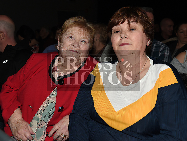 Shirley and PAtsy Caffrey at the Elvis show in the Barbican Centre. Photo:Colin Bell/pressphotos.ie
