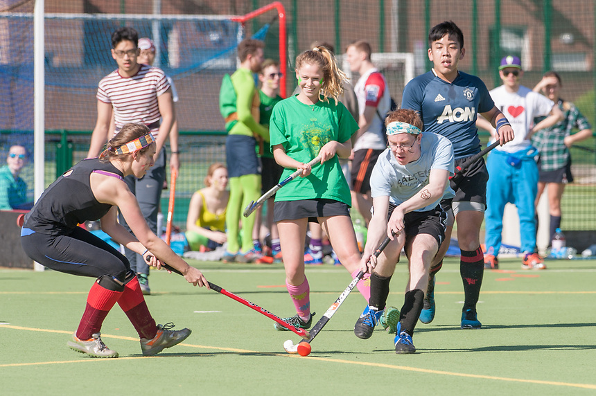 Match action from the University of Manchester Hockey Finals at the Armitage Sports Centre, Manchester on Sunday March 27 2017.