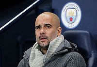 Manchester City manager Josep Guardiola <br /> <br /> Photographer Rich Linley/CameraSport<br /> <br /> UEFA Champions League Round of 16 Second Leg - Manchester City v FC Schalke 04 - Tuesday 12th March 2019 - The Etihad - Manchester<br />  <br /> World Copyright &copy; 2018 CameraSport. All rights reserved. 43 Linden Ave. Countesthorpe. Leicester. England. LE8 5PG - Tel: +44 (0) 116 277 4147 - admin@camerasport.com - www.camerasport.com