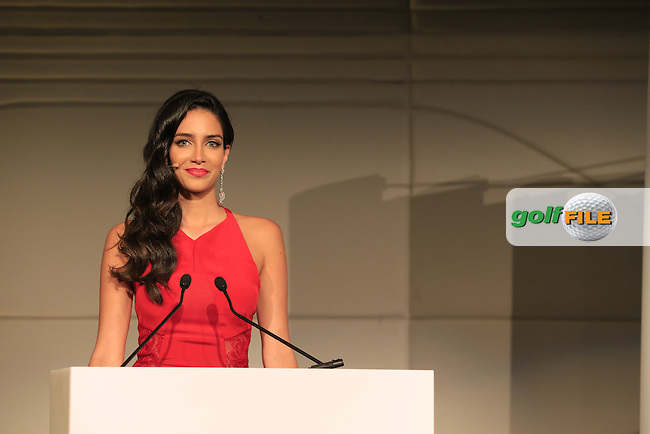 Jessica Kahawaty hosts the 2015 Abu Dhabi Invitational Gala Evening held at The Viceroy Hotel, Yas Island, Abu Dhabi.: Picture Eoin Clarke, www.golffile.ie: 1/25/2015