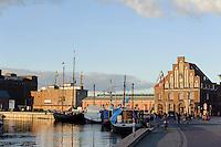 Alter Hafen in Wismar, Mecklenburg-Vorpommern, Deutschland, UNESCO-Weltkulturerbe