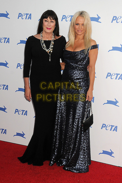 30 September 2015 - Hollywood, California - Anjelica Huston, Pamela Anderson. PETA 35th Anniversary Gala held at the Hollywood Palladium. <br /> CAP/ADM/BP<br /> &copy;BP/ADM/Capital Pictures