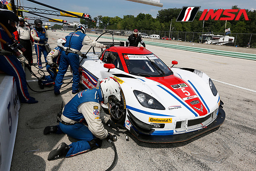 8-10 August 2014, Elkhart Lake, Wisconsin USA<br />  5, Chevrolet, Corvette DP, P, Joao Barbosa, Christian Fittipaldi pit stop<br /> &copy;2014, Michael L. Levitt<br /> LAT Photo USA for IMSA