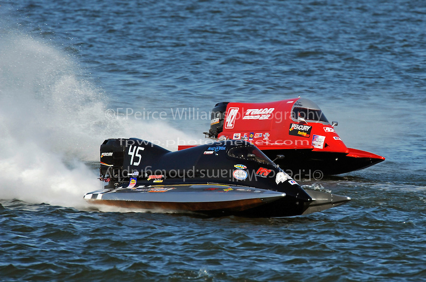 3-4 May 2008, Pickwick,TN USA.Shaun Torrente passes backmarker Chuck Unkle (45)..©2008 F.Peirce Williams