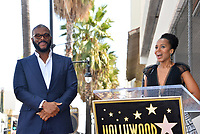 LOS ANGELES, CA. October 01, 2019: Tyler Perry & Kerry Washington at the Hollywood Walk of Fame Star Ceremony honoring Tyler Perry.<br /> Pictures: Paul Smith/Featureflash