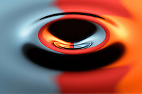 Glass-like droplet captured using high-speed photography.