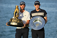 Adri Arnaus (ESP) winner Challenge Tour Grand Final and European Challenge Tour and Joachim B Hansen (DEN) Winner Challenge Tour Order of Merit 2018 after the final round of the Ras Al Khaimah Challenge Tour Grand Final played at Al Hamra Golf Club, Ras Al Khaimah, UAE. 03/11/2018<br /> Picture: Golffile | Phil Inglis<br /> <br /> All photo usage must carry mandatory copyright credit (&copy; Golffile | Phil Inglis)