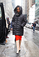 NEW YORK, NY - JANUARY 8: Tyra Banks seen at NBC's Today Show promoting the new season of America's Next Top Model in New York City on January 8, 2018. <br /> CAP/MPI/RW<br /> &copy;RW/MPI/Capital Pictures