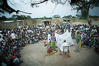 In the remote villages of Burkina Faso, a theatre company explains the importance of using long-lasting insecticide-treated bed nets. Many villagers are ignorant about malaria; most don't know that malaria is caused by mosquitoes and many go to see a traditional witchdoctor to treat it.