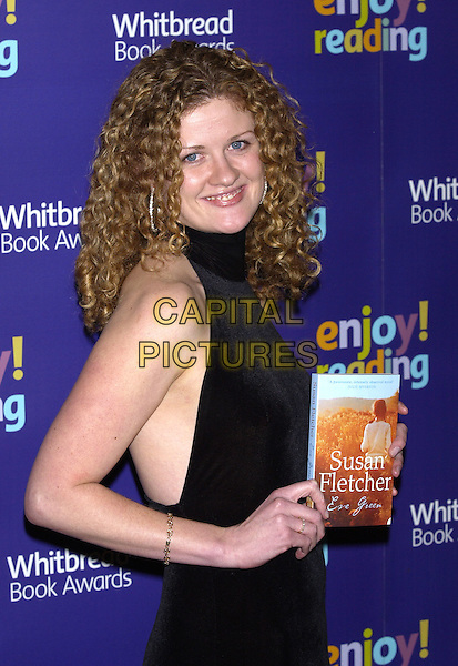 SUSAN FLETCHER.Whitbread Book of the Year Award 2004, The Brewery, Chiswell Street, London, January 25th 2005..half length holding book .Ref: PL.www.capitalpictures.com.sales@capitalpictures.com.©Capital Pictures.