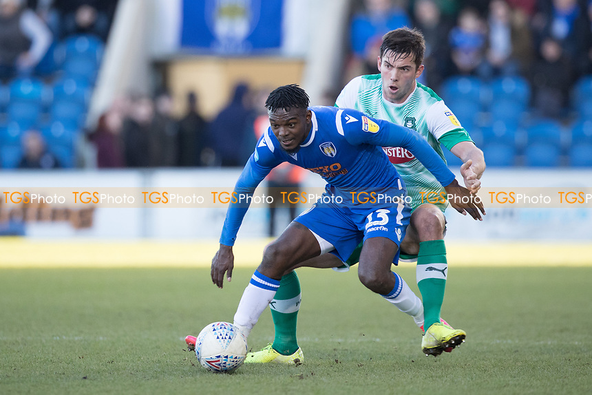 during Colchester United vs Plymouth Argyle, Sky Bet EFL League 2 Football at the JobServe Community Stadium on 8th February 2020