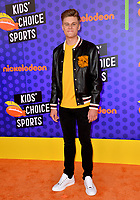 Owen Joyner at the Nickelodeon Kids' Choice Sports Awards 2018 at Barker Hangar, Santa Monica, USA 19 July 2018<br /> Picture: Paul Smith/Featureflash/SilverHub 0208 004 5359 sales@silverhubmedia.com