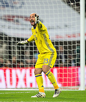 Pepe Reina of Spain during the International Friendly match between England and Spain at Wembley Stadium, London, England on 15 November 2016. Photo by Andy Rowland.