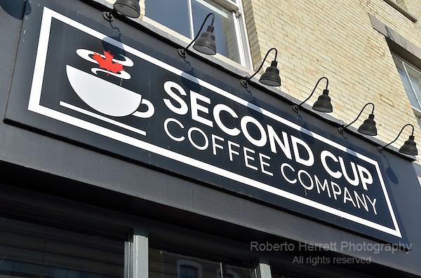 Second Cup Coffee Company cafe in  Portobello Road,London, UK.
