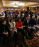 Audience and atmospghere at the Dramatists Guild Fund Salon With Rick Elice at the Cornell Club on March 6, 2017 in New York City.