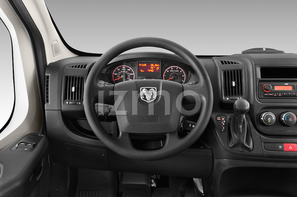 Car pictures of steering wheel view of a 2015 Ram Promaster 1500 136 Wb Low Roof 4 Door Passenger Van 2WD Steering Wheel