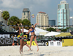 ST. PETERSBURG, FL - JUNE 18: General view of during the FIVB Beach Volleyball World Tour St. Petersburg Grand Slam presented by the AVP on June 18, 2015 at Spa Beach in St. Petersburg, Florida. (Photo by Donald Miralle for the AVP)