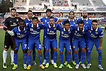 22 August 2015: Cosmos starters. Front row (from left): Lucky Mkosana (ZIM), Walter Restrepo, Hunter Freeman, Andres Flores (SLV), Raul (ESP), Ayoze Garcia (ESP). Back row (from left): Jimmy Maurer, Leo Fernandes (BRA), Samuel Caceres (PAR), Carlos Mendes, Adam Moffat (SCO). The Carolina RailHawks hosted the New York Cosmos at WakeMed Stadium in Cary, North Carolina in a North American Soccer League 2015 Fall Season match. Cosmos won the game 3-1.