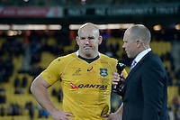 Wallabies' Stephen Moore. All Blacks v Wallabies. The Rugby Championship &amp; Bledisloe Cup at Westpac Stadium, Wellington, New Zealand on Saturday 27 August 2016.<br /> Photo by Masanori Udagawa. <br /> www.photowellington.photoshelter.com.