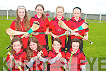 Cillard under ten camogie team at the camogie bliz in Kilmoyley sports grounds on Sunday were front l-r Elizabeth Meehan, Kate Austin O'Sullivan, Chantel Kenny and Clodagh Walsh.  Back l-r Marianne Nolan, Rachel Breen, Eilish Harrington and Orlaith Casey.   Copyright Kerry's Eye 2008