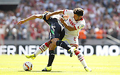 01.08.2015. RheinEnergieStadion, Cologne, Germany.  Cologne MilJojic  against Steve Sidwell during the Colonia Cup 2015 between  FC Cologne and Stoke City FC