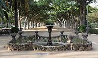 Modernist foutain, Teodoro Gonzalez Park, Tortosa, Tarragona, Spain. Picture by Manuel Cohen
