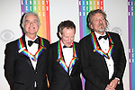 Jimmy Page, John Paul Jones and Robert Plant (Led Zepplin)  attending the 35th Kennedy Center Honors at Kennedy Center in Washington, D.C. on December 2, 2012