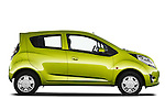 Passenger side profile view of a 2011 Chevrolet Spark LS 5 Door Hatchback .